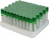 Lithium Heparin and Gel -  glass vacuum blood collection tube.
