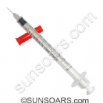 U-40 -Insulin Syringe with Attached Needle